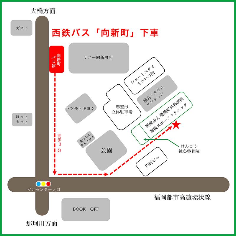 堺整形外科スポーツの敷地内地図